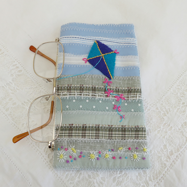 Kite Patchwork Glasses or Spectacles Case