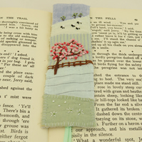 Embroidered Blossom Bookmark