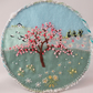 Spring Blossom Plaque - embroidered landscpae scene