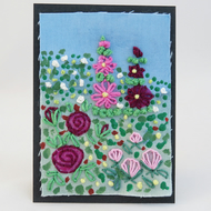 ACEO Pink Rose Garden
