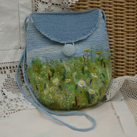 RESERVED FOR TILLY - Meadow Embroidered and Felted Bag