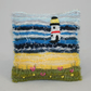 Light House Pincushion felted and embroidered