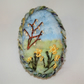 Daffodils and Catkins - Embroidered Felted Brooch