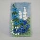 Blue Cottage Garden Brooch - embroidered and felted