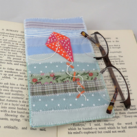Kite Glasses or Spectacles Case Patchwork and applique