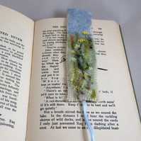 Meadow Flowers - Embroidered and felted bookmark