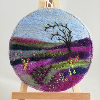 Embroidered Moorland Plaque