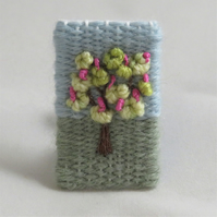 Embroidered Brooch - Flowering Horsechestnut Tree