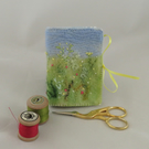 Buttercup Meadow  Needle Book - Embroidered and felted