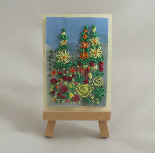 ACEO Summer Garden - Yellow, orange and red