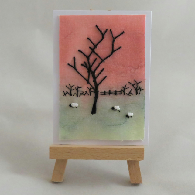 ACEO Winter Sunset