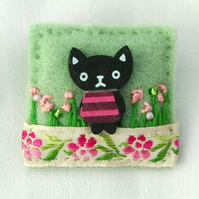 Brooch - Kawaii cat brooch