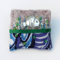 Brooch - fish brooch - fish - sea life