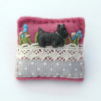 Brooch - Scottie dog brooch