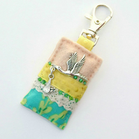 Nappy bag charm - stork and baby