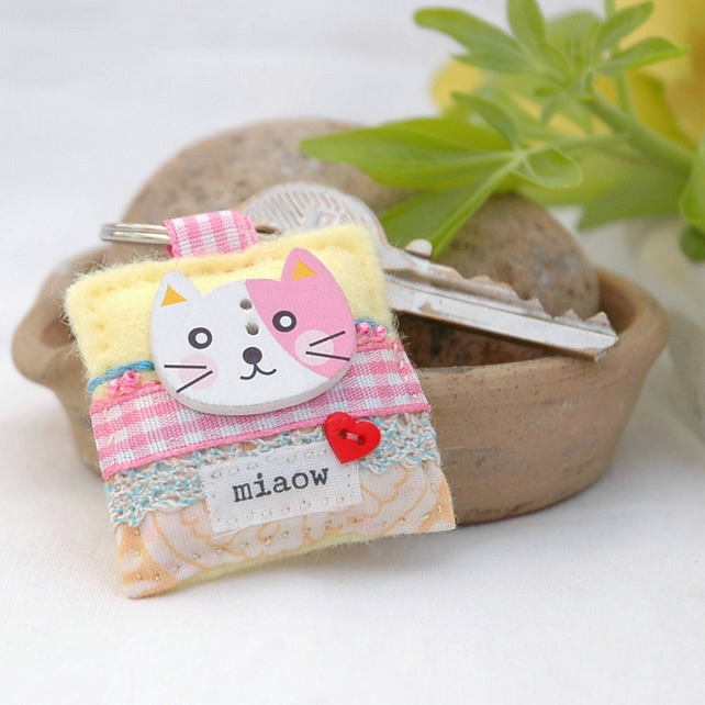 Kawaii cat keyring - Kawaii gifts - cats