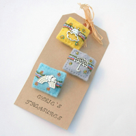 Weather brooches - miniature brooches - felt brooches