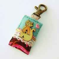 Bag charm - cat handbag charm