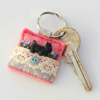 keyring - Scottie dog keyring - dog lover gift
