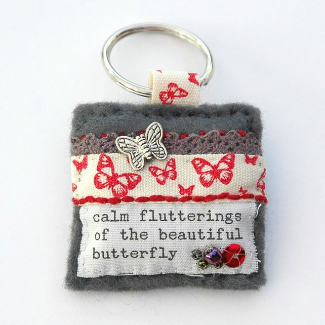 Butterfly keyring - butterfly lover gifts - nature gifts