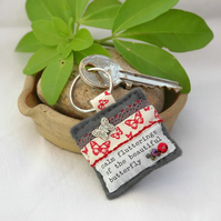 Butterfly keyring - keyring - nature gifts