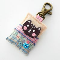 Bag charm - kawaii cat bag charm - cats