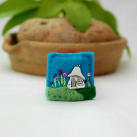mini brooch - fairy house brooch - fairies