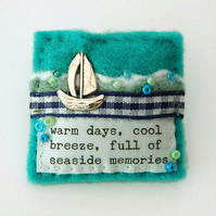 Brooch - sailing boat - nautical gifts