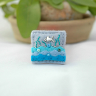 brooch - mini fish brooch - fish