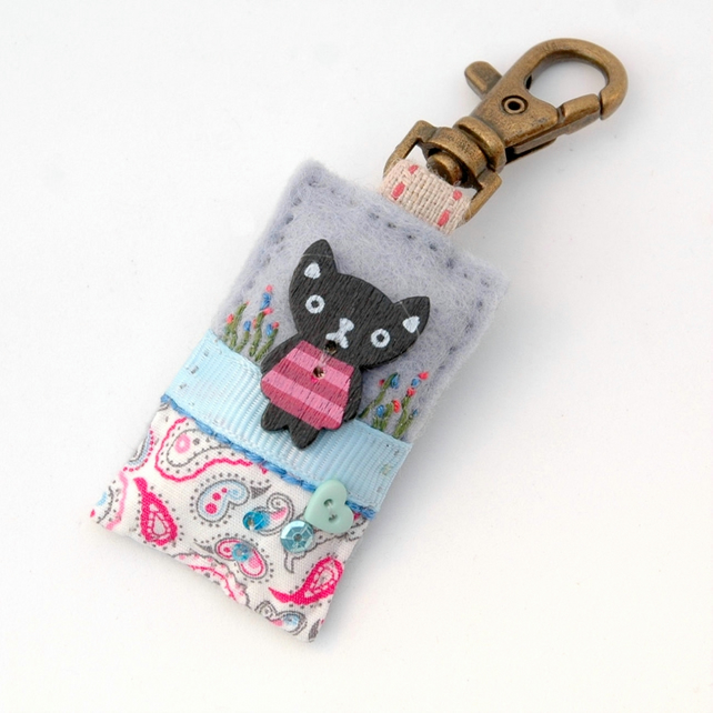 kawaii cat bag charm - kawaii gifts