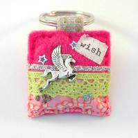 keyring - Pegasus keyring - flying horse - horse lover gift - Mothers day