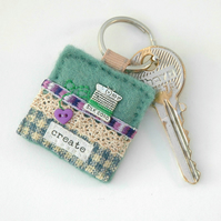 keyring - sewing keyring - gift for sewers - cotton spool keyring