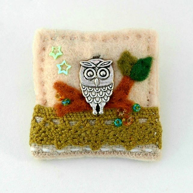 brooch - owl brooch - owl - Mothers day gift