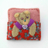 bear brooch - brooch - bear lover gift - teen gift