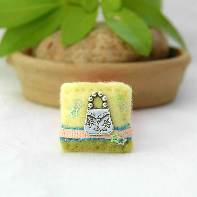 handbag brooch - mini brooch - gifts for her