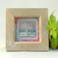 Ballerina picture - box framed art - gift for dancer