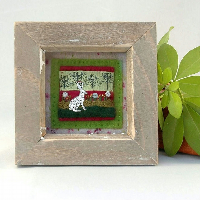 hare picture - hares - gift for the home - Easter gift