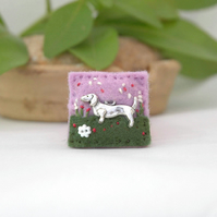 brooch - dachshund brooch - mini dog brooch - dachshund lover
