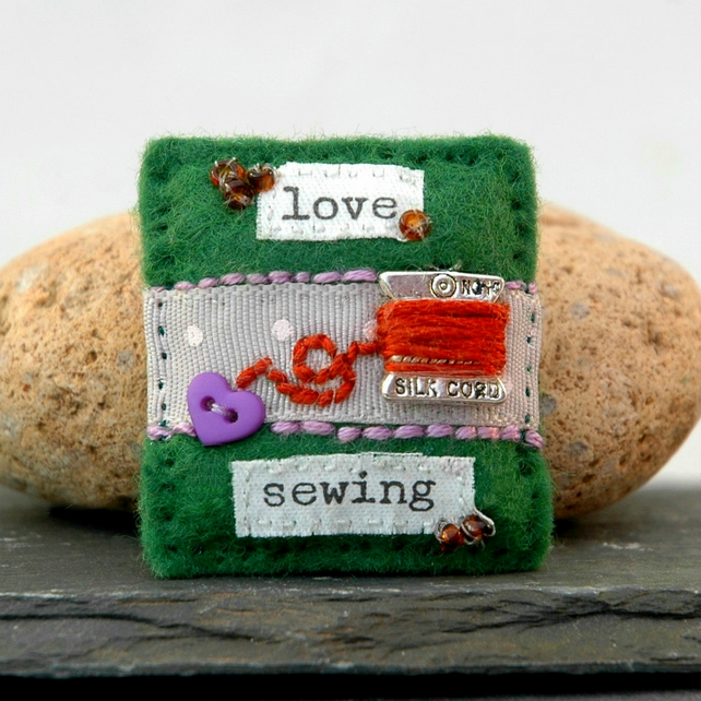 brooch - sewing - sewing gifts
