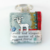 stag keyring, stag deer gifts, stag hunting, sporting life