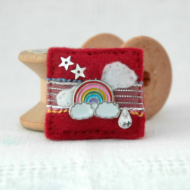 rainbow brooch - handmade gifts - gifts for teens
