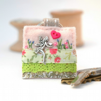 fairy keyring, hand sewn felt key ring, fairy gifts, fairy lover accessory