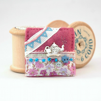 teapot brooch, mothers day gift, tea lover, hand sewn brooches