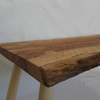 Natural Wood Coffee Table or Side Table - Rustic Welsh Sycamore