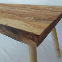 Natural Wood Coffee Table - Rustic Welsh Sycamore - Traditionally made