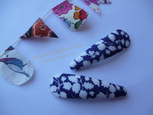 Hairclips, Liberty fabric