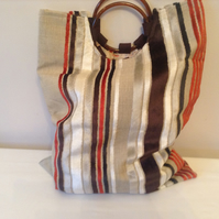 HANDMADE KNITTING OR CRAFT BAG