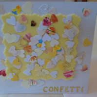 HANDMADE CONFETTI WEDDING CARD