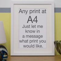 A4 limited edition digital animal print; Any print