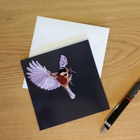 Bird Card: Bird in Flight